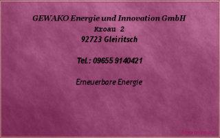 Hilfe für Anleger - GEWAKO Energie und Innovation GmbH
